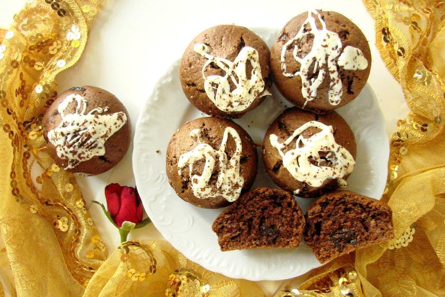 muffinki wisnia i czekolada
