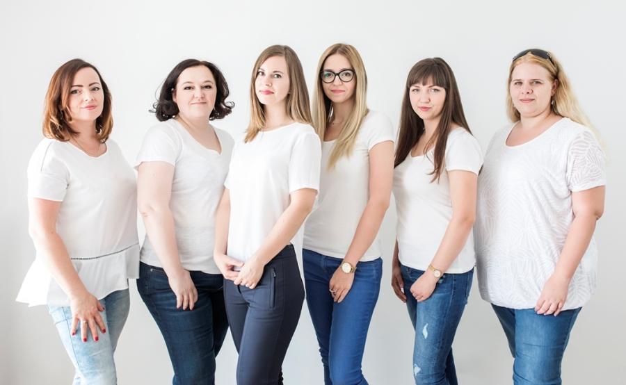 Od lewej: Katarzyna Grzebyk, Katarzyna Berska, Anna Tabak, Dagmara Sobczak, Aleksandra Dobies, Marzena Gaczoł.