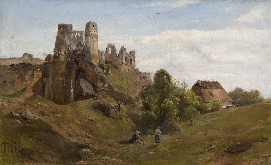 Fot. Wikipedia, Henryk Grabiński, Ruiny Odrzykonia