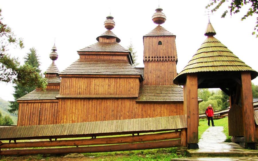 Bodrużal, cerkiew drewniana
