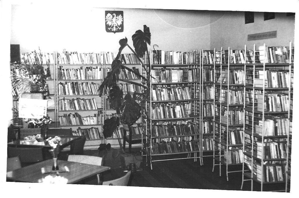 Wnętrze biblioteki w latach 80. XX w.