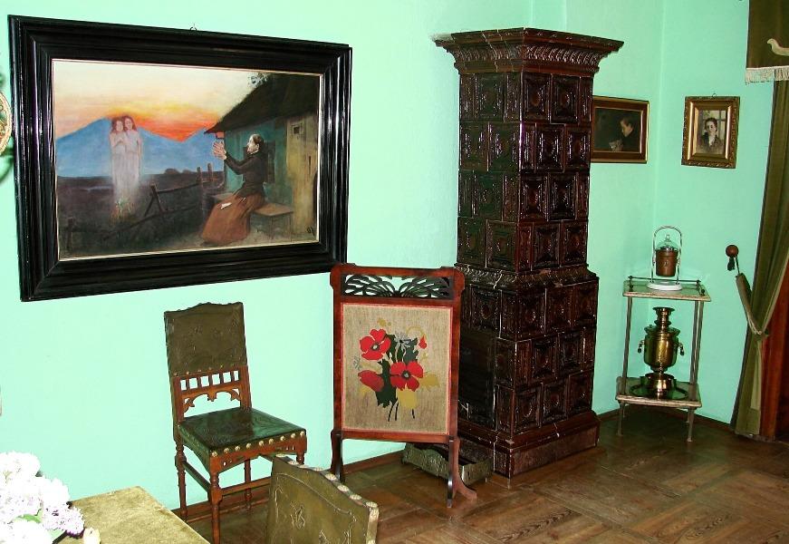 Wnętrze muzeum w Żarnowcu