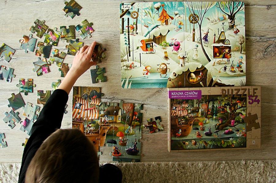 Kraina czarów, puzzle. Wydawnictwo Nasza Księgarnia