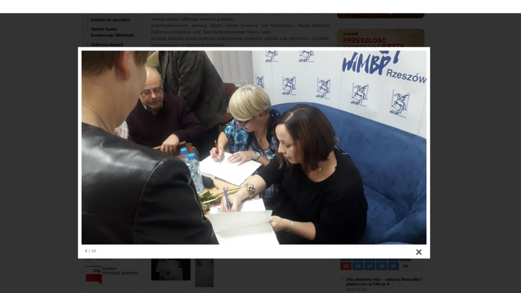Screen fotografii na stronie WiMPB
