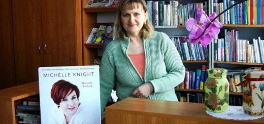 Pani Izabela Dudzińska z Biblioteki Publicznej w Połomi